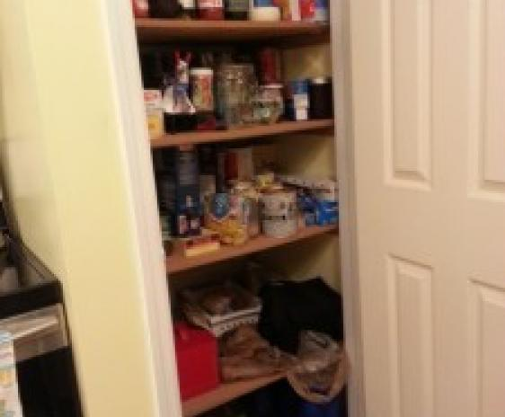 Finished pantry.