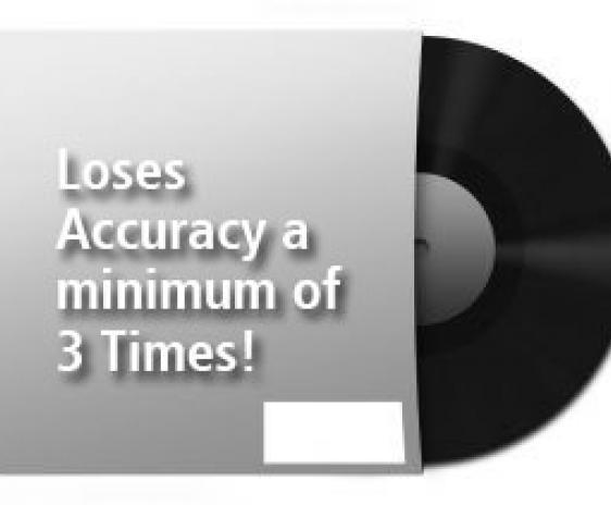 Vinyl loses accuracy 3 times.