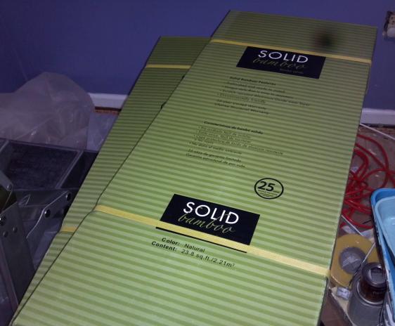 New flooring in packaging