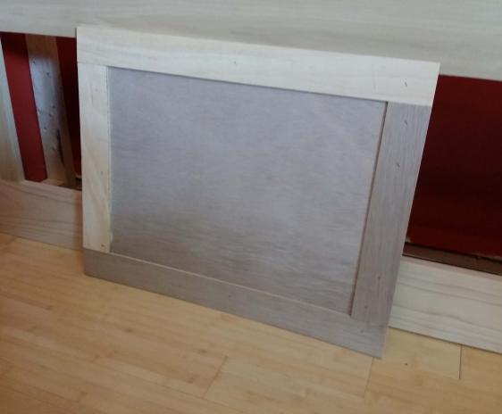 Trim strips on door panel.