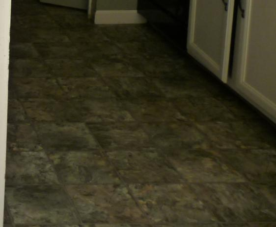 Old kitchen flooring